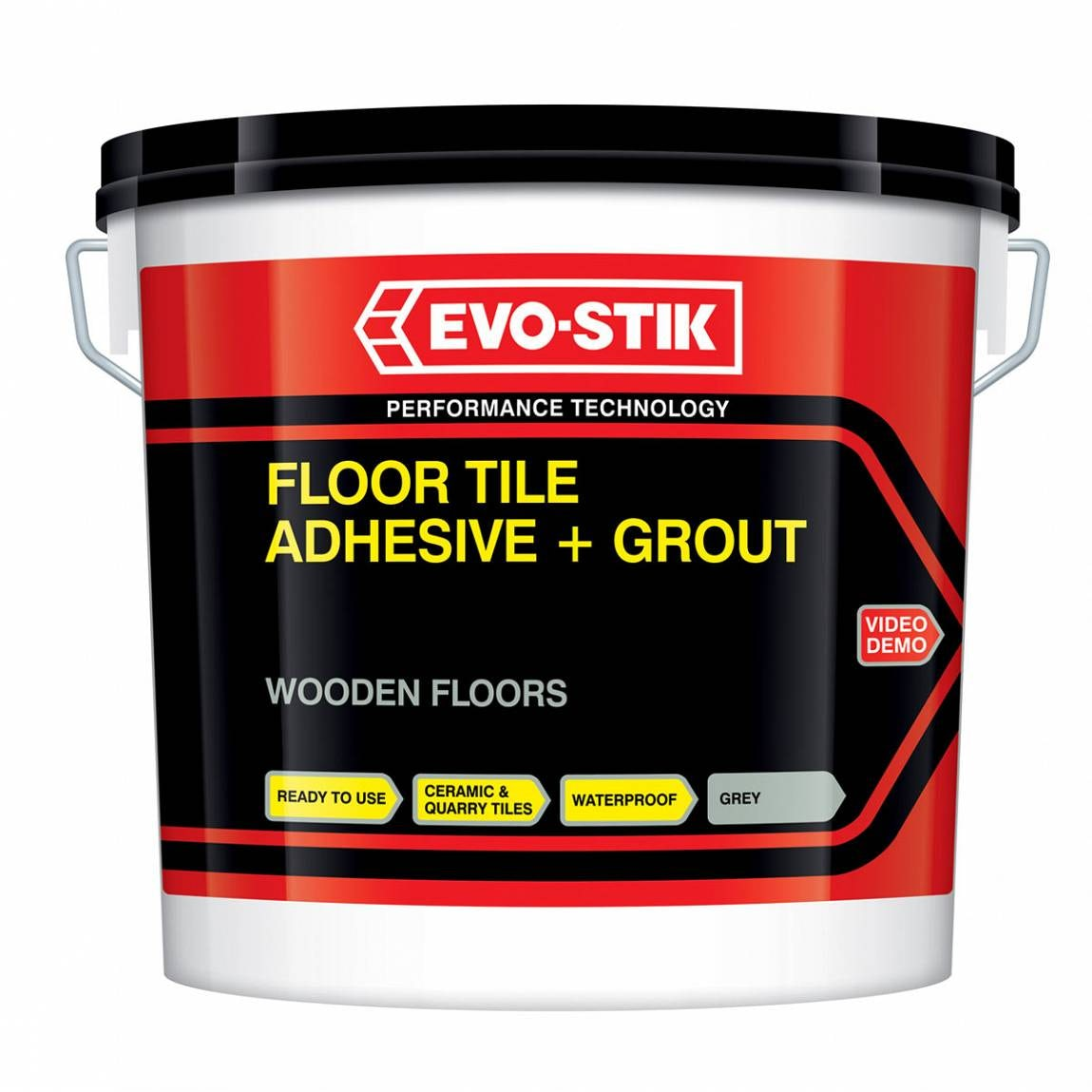 Wooden Floor Tile Adhesive And Grout Large Grey 5l