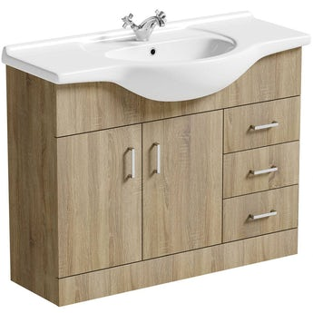 Sienna oak vanity unit and basin 1050mm. Bathroom Vanity Units   Vanity Units with Basins   VictoriaPlum com