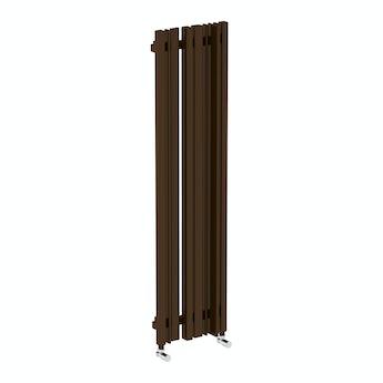Terma Sherwood terra brown vertical radiator 1300 x 330