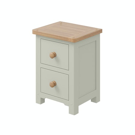 Rome Oak & Grey 2 Drawer Bedside in Oak & Grey