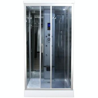 Insignia rectangular hydro-massage shower cabin 1100 x 890