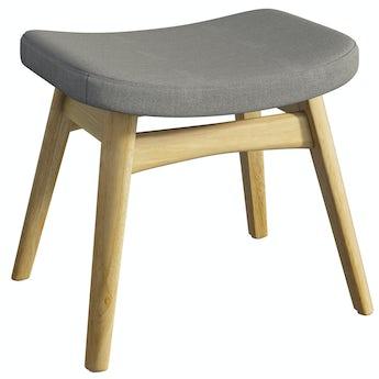 Sloane Oak and Grey Footstool