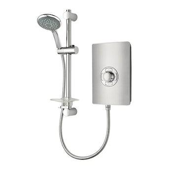 Triton Aspirante 9.5kw electric shower brushed steel