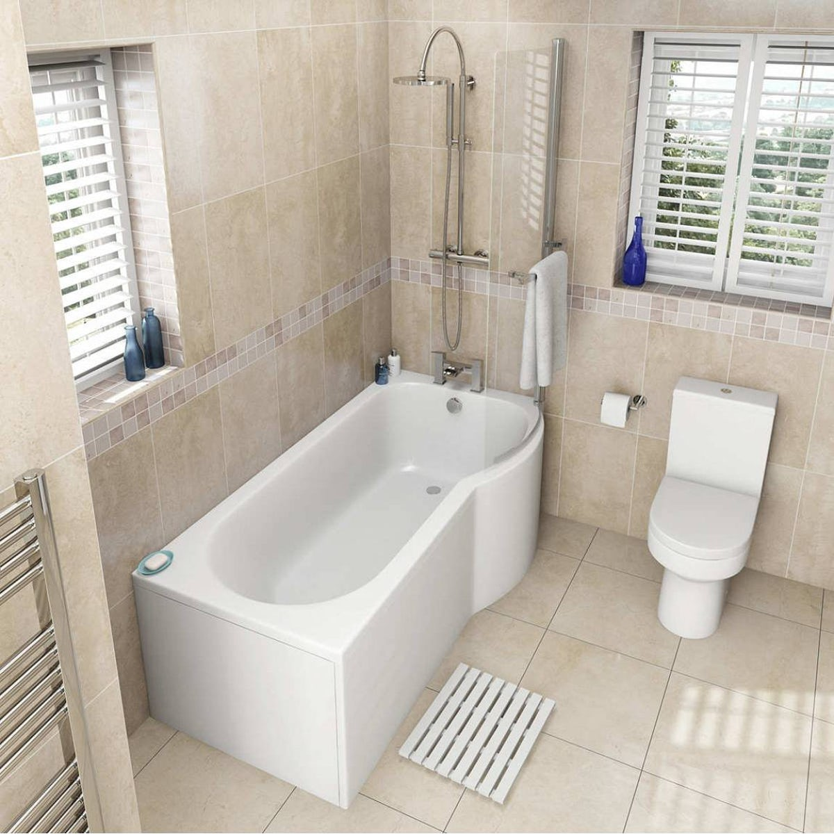 Oakley Bathroom Suite With Rh Shower Bath 1700x850