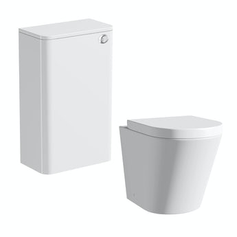 Mode Arte back to wall toilet with toilet seat and Planet white back to wall unit