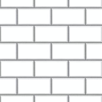 Fine Decor ceramica subway tile white