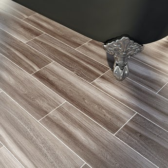 Bark grey wood effect tile 148mm x 498mm