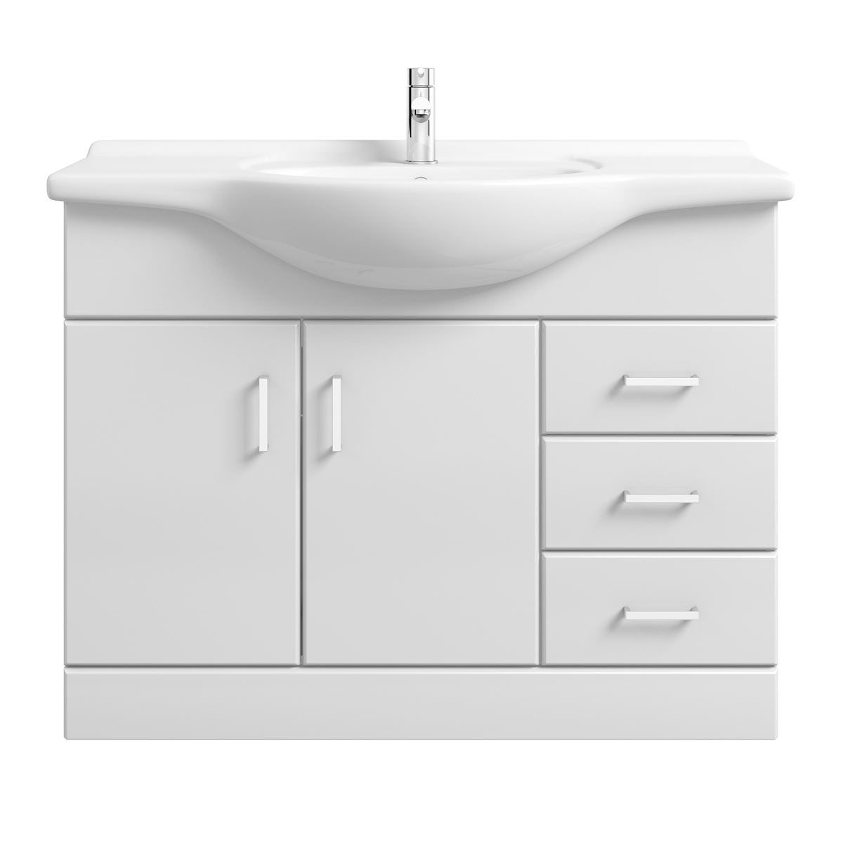 Sienna White Vanity Unit With Basin 1050mm Victoriaplum Com