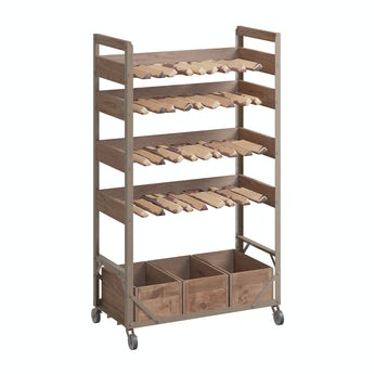Reeves Sawyer wine rack with wheels