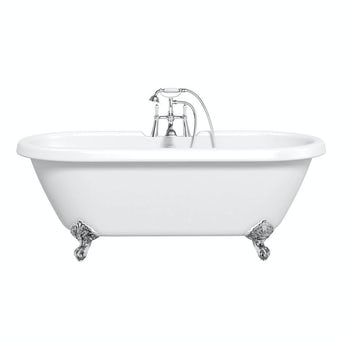 Shakespeare traditional roll top bath with ball feet white