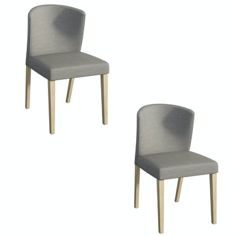 Hudson oak and dark grey pair of dining chairs