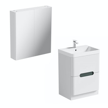 Mode Planet slate vanity unit 600mm and mirror cabinet offer