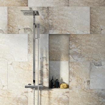 Rocky clay beige matt tile 400mm x 600mm