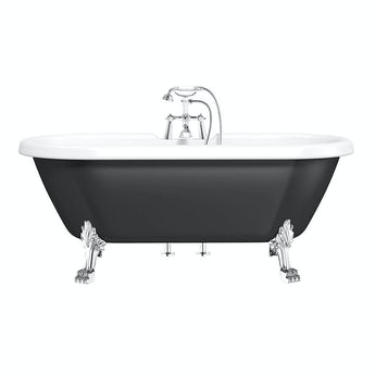 The Bath Co. Shakespeare traditional roll top bath with dragon feet black
