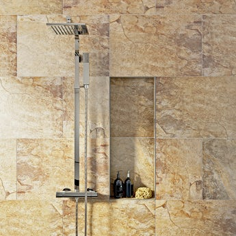 Rocky terracotta beige matt tile 400mm x 600mm