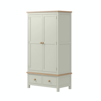 MFI Rome oak and mellow sage Gents Wardrobe
