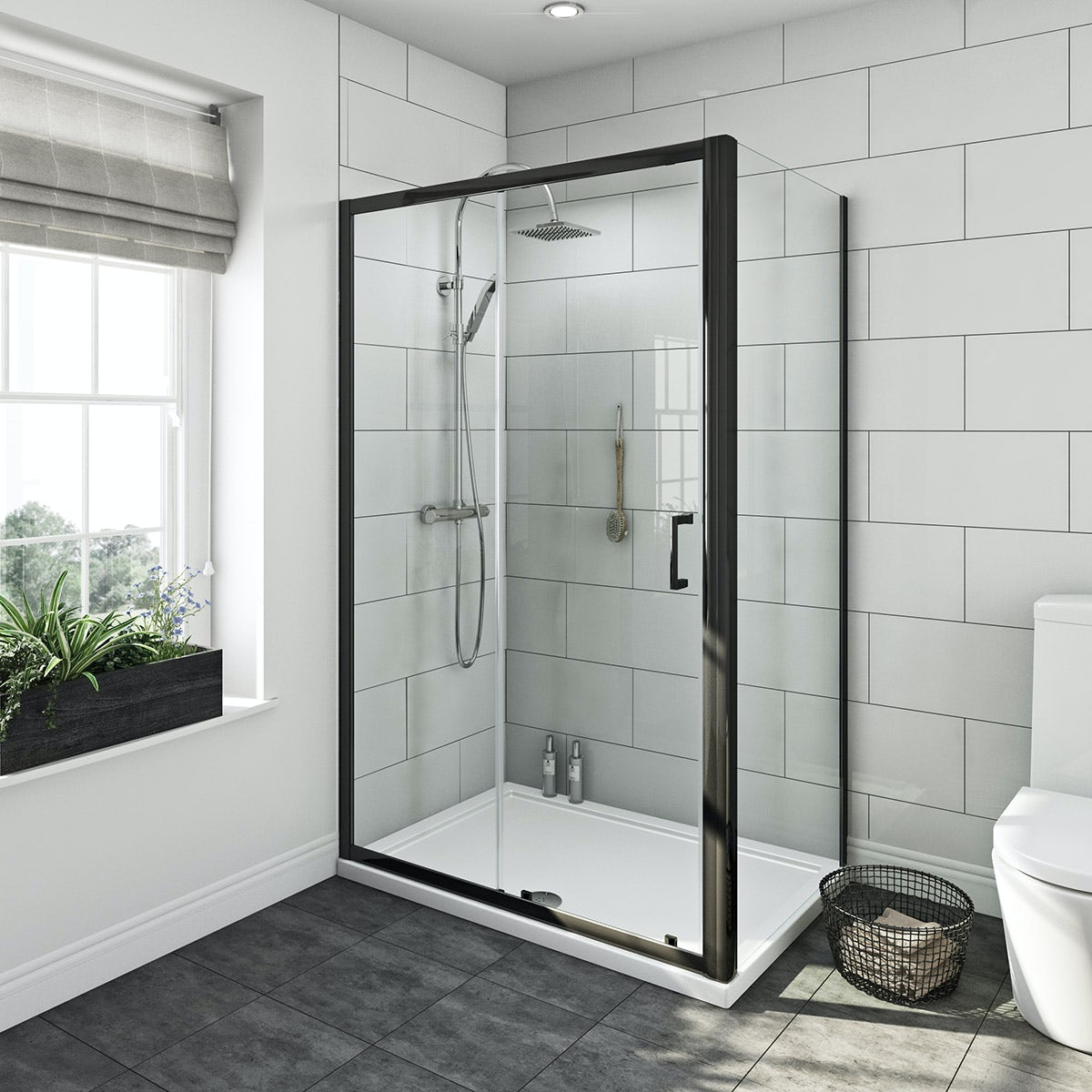 Mode Premium Black 6mm Shower Enclosure 1200x800