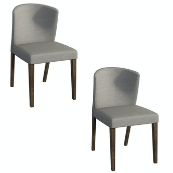 Hudson walnut and dark grey pair of dining chairs