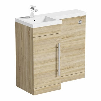 MySpace oak left handed unit including concealed cistern