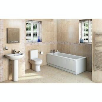 Oakley bathroom set with Kensington bath suite