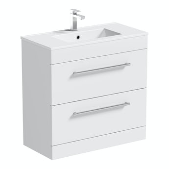 Chamonix vanity drawer unit and basin 800mm