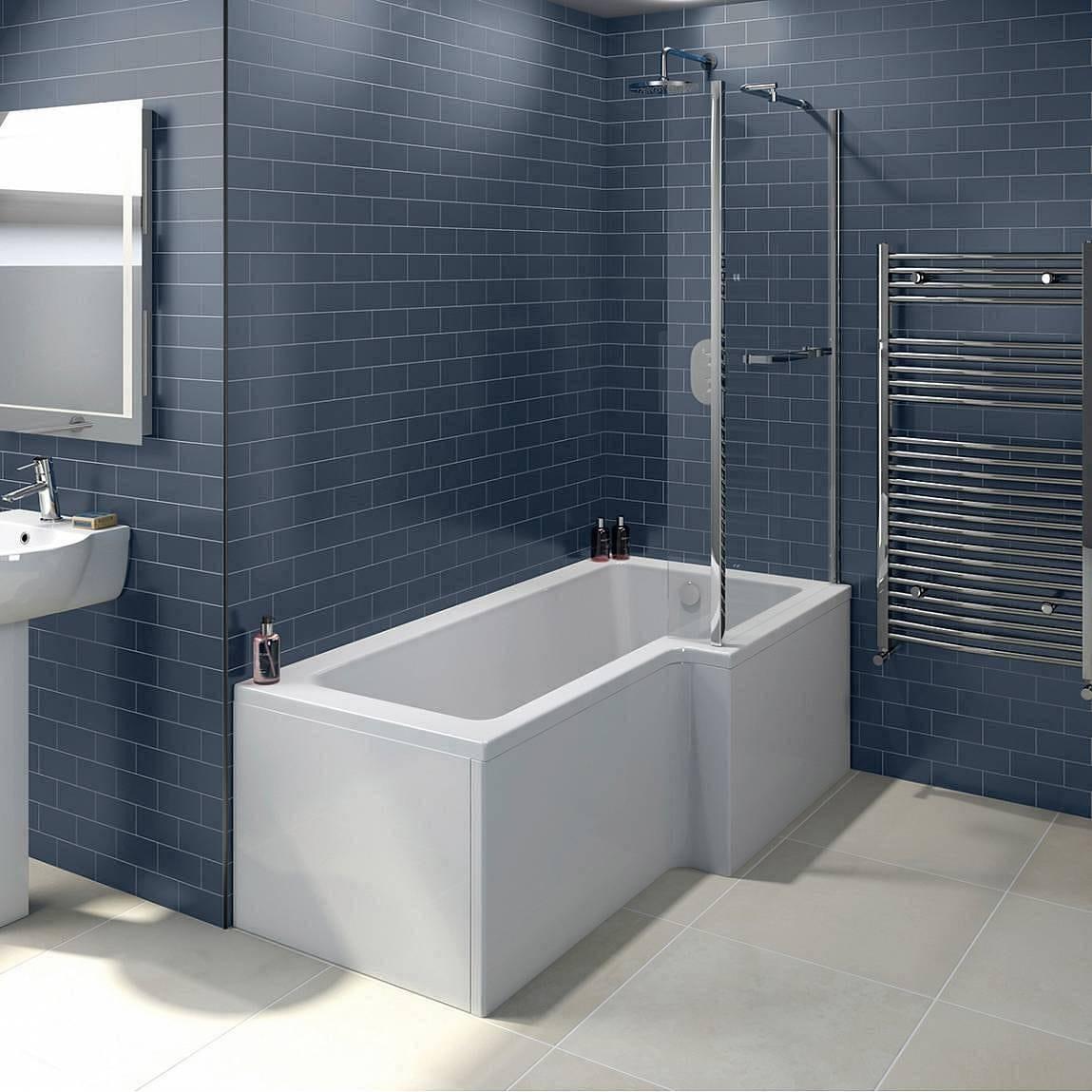 boston shower bath 1700 x 850 rh inc screen towel rail