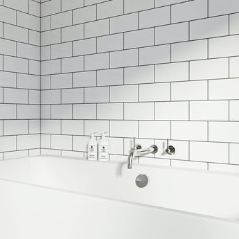 Metro flat white gloss tile 100mm x 200mm