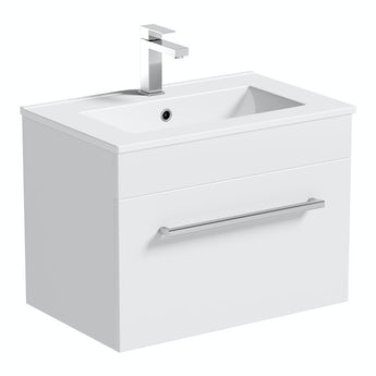 Chamonix wall hung vanity drawer unit and basin 600mm