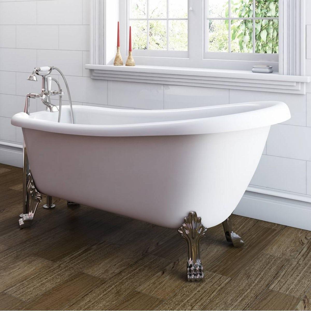 Winchester slipper bath with dragon feet 1540 x 720 offer for Small baths 1200