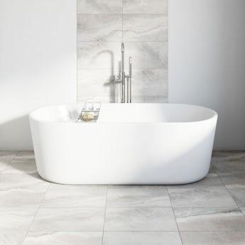 Stone grey matt tile 298mm x 498mm