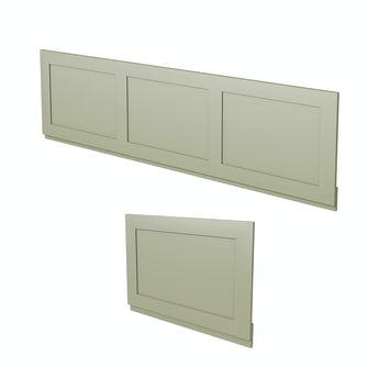The Bath Co. Camberley sage wooden bath panel pack
