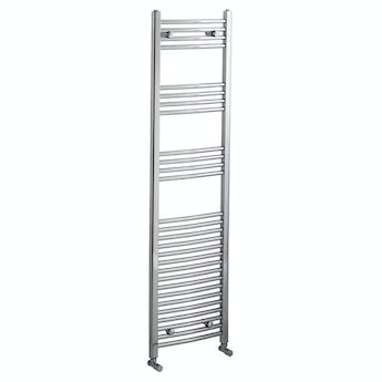 Curved heated towel rail 1650 x 450 offer pack