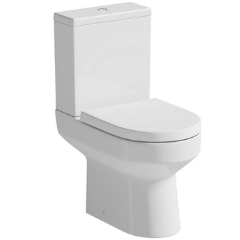 Oakley close coupled toilet with soft close seat