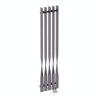 Terma Cyklon modern grey vertical radiator 1600 x 410