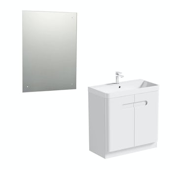 Mode Planet white vanity door unit 800mm and mirror offer