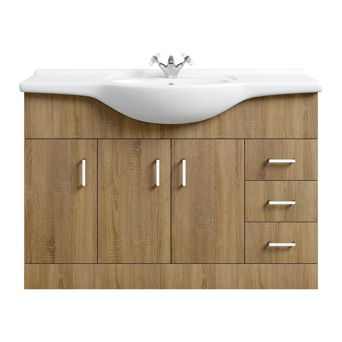 Sienna Oak 120 Vanity Unit   Basin. Sienna Oak 120 Vanity Unit Basin   VictoriaPlum com