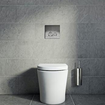Slate light riven grey matt tile 298mm x 498mm