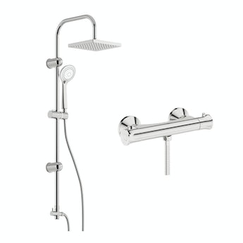 Storm thermostatic shower valve with riser rail kit