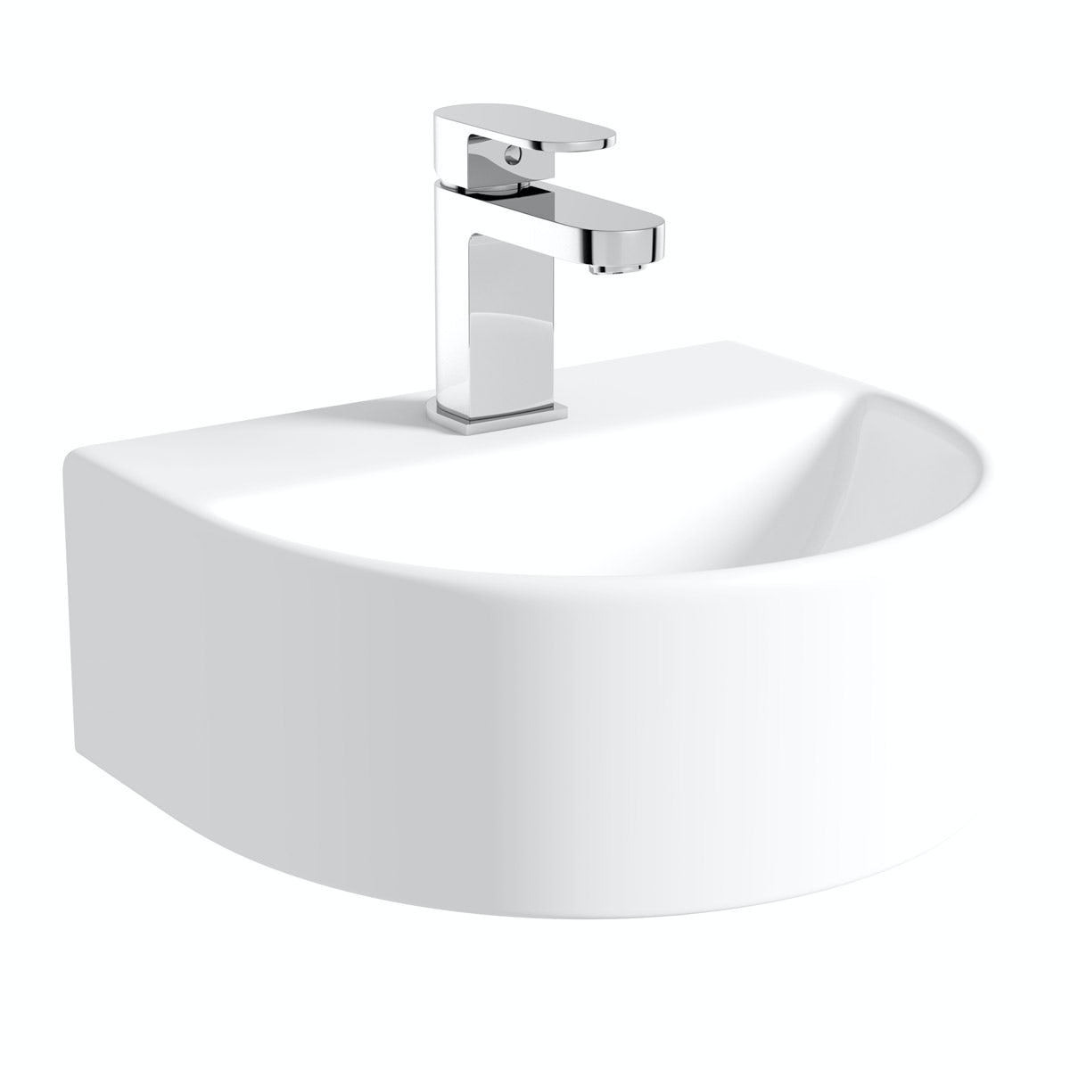 Compact Round close coupled toilet and Pichola wall hung basin ...