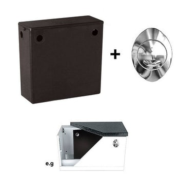 Compact concealed toilet cistern with side water inlet