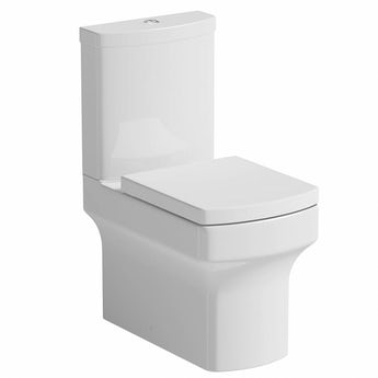 Vermont close coupled toilet with soft close seat