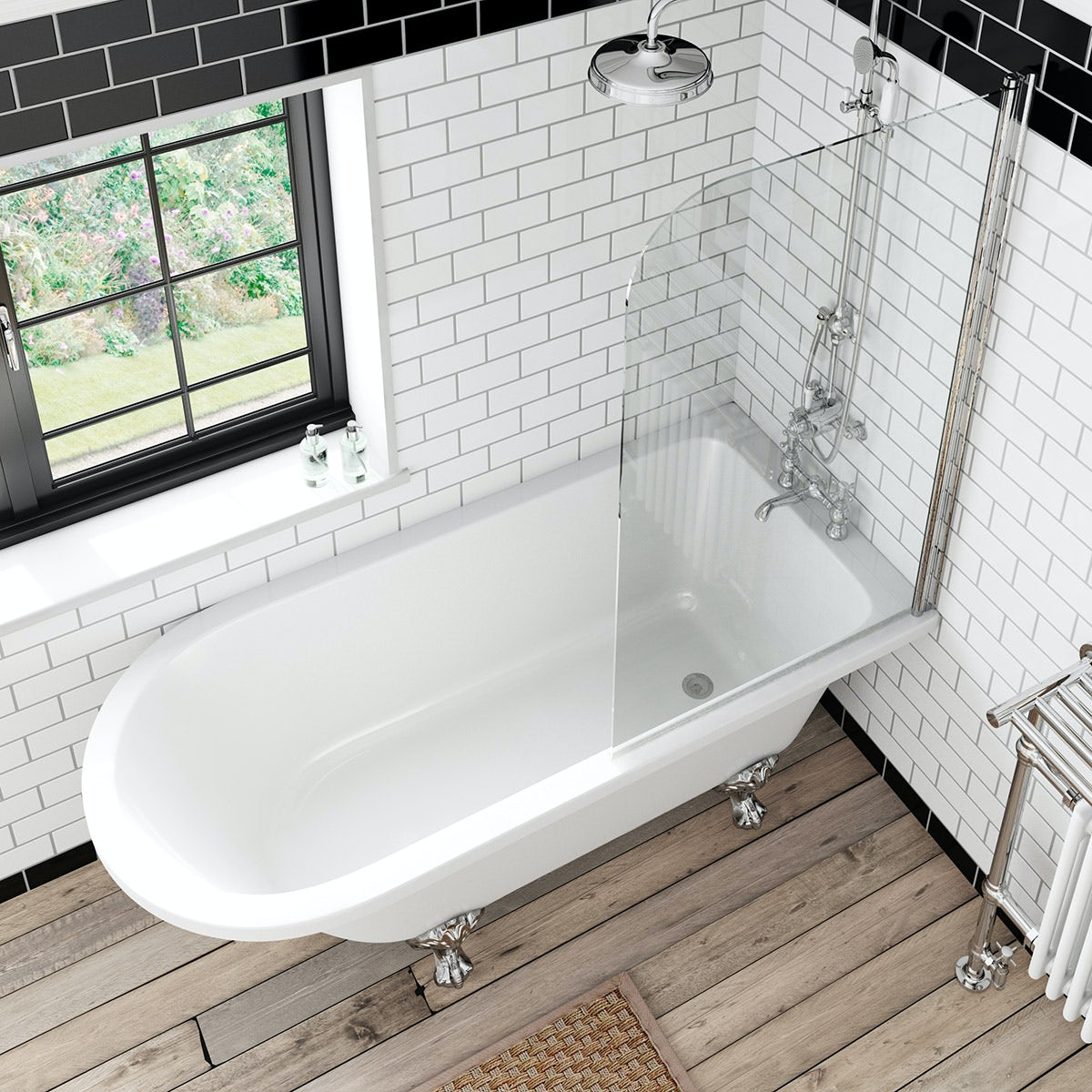 the bath co shakespeare freestanding shower bath and bath