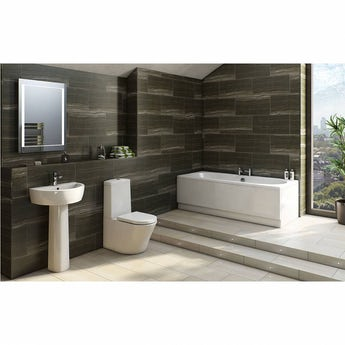 Arte bathroom suite with Islington double ended bath