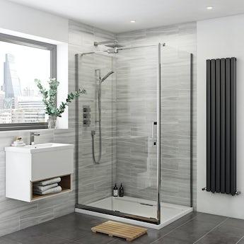 Mode Glaser premium 8mm easy clean left handed shower enclosure