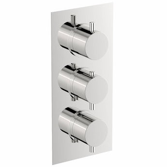 Matrix square triple thermostatic shower valve with diverter offer pack