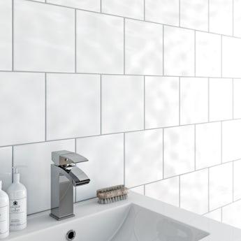 Clarity bumpy white gloss tile 200mm x 200mm