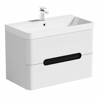 Mode Planet select essen wall hung vanity drawer unit and basin 800mm