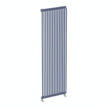Terma Delfin pigeon blue vertical radiator 1800 x 580