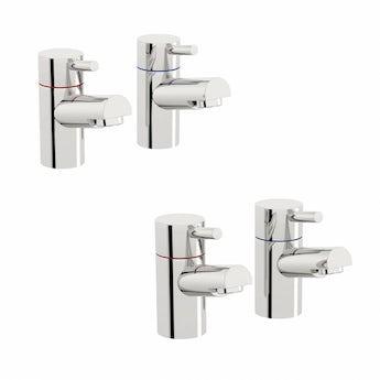 Matrix basin and bath pillar tap pack