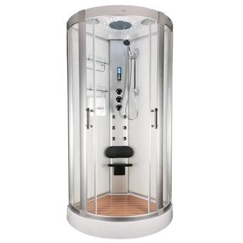 Insignia bow quadrant hydro-massage shower cabin 900 x 900